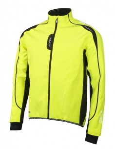 Giacca invernale ciclismo Force X72 fluo