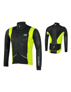 Giacca bici FORCE X58 nero-fluo