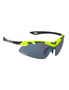 Occhiali ciclismo FORCE DUKE fluo black