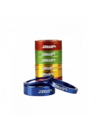 Distanziali spessori serie sterzo X-Tasy set 3 pezzi 2-5-10mm