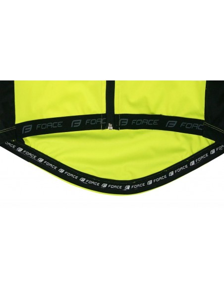 Giacca termica ciclismo Force X80 fluo