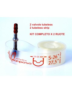 KIT tubeless in silicone Effetto Mariposa caffelatex tubeless STRIP
