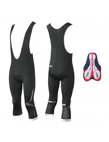 Pantaloni trequarti ciclismo FORCE X68 con fondello