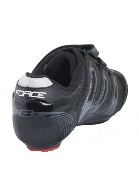 Scarpe bici da corsa FORCE con strap nere