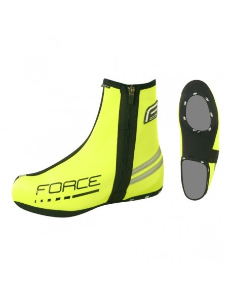 Copriscarpe ciclismo neoprene FORCE nero