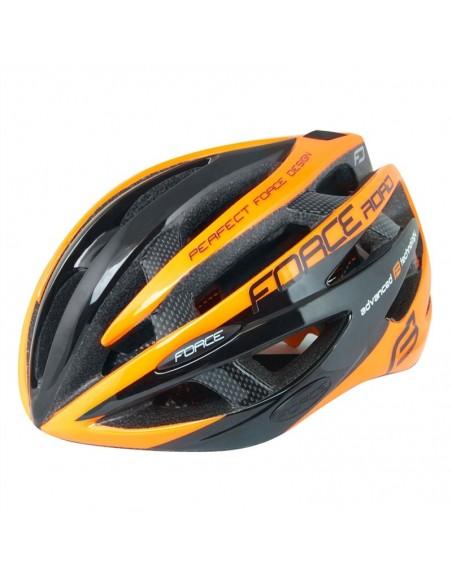 Casco bici Force ROAD nero arancio