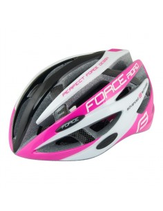 Casco bici Force ROAD nero rosa bianco