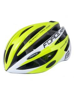 Casco bici Force ROAD bianco fluo