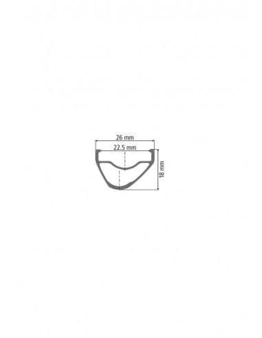 Ruote MTB Dt Swiss XR 1501 Spline One 22,5 mm 29 Boost