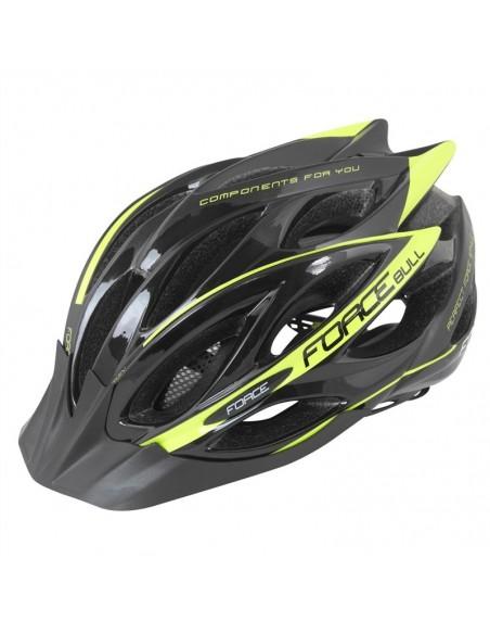 Casco bici Force Bull nero fluo