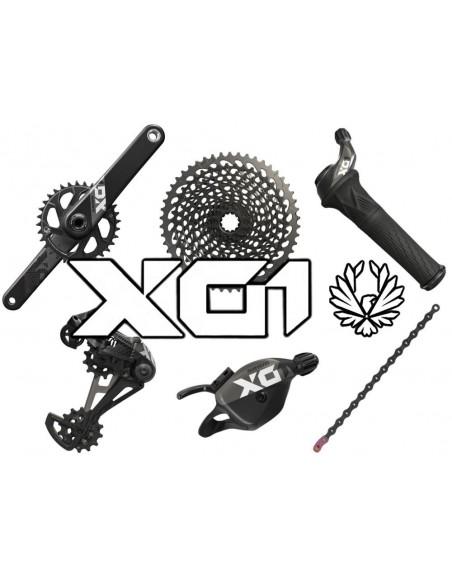Gruppo SRAM X01 Eagle Black 12 velocita'