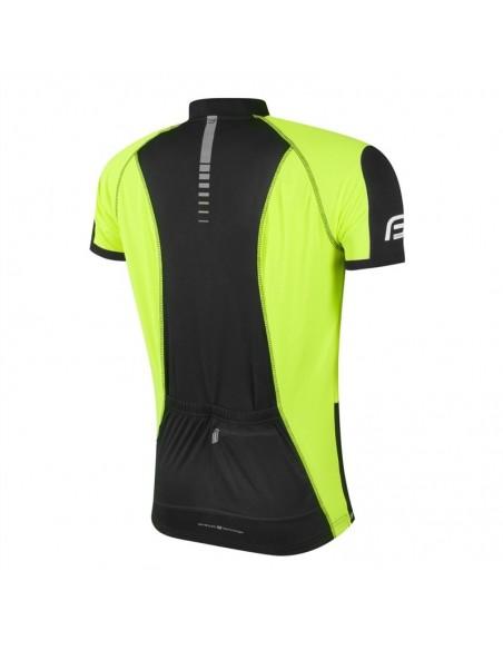 Maglia ciclismo FORCE T12 nero-fluo