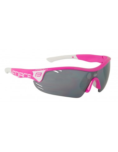 Occhiali ciclismo FORCE Pro Race bianco-rosso