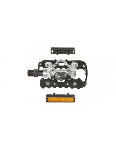 Pedali MTB EXUSTAR E PM 818-03 doppio uso Flat + SPD