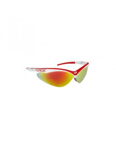 Occhiali ciclismo Force AIR con 3 lenti Bianco/rosso