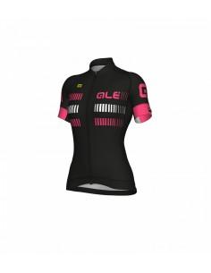 Maglia ciclismo donna ALE' GRAPHICS PRR STRADA nero-rosa fluo-bianco 2018