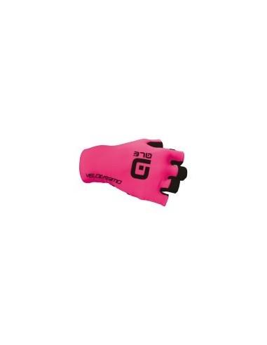 Guanti ciclismo ALE' VELOCISSIMO CRONO GLOVE rosa fluo-nero 2018