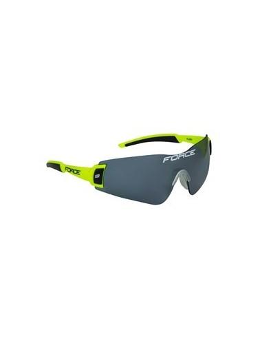 Occhiali ciclismo Force FLASH con 3 lenti NERO-FLUO