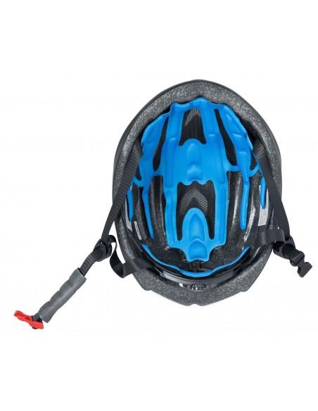 Casco bici da corsa FORCE REX NERO FLUO