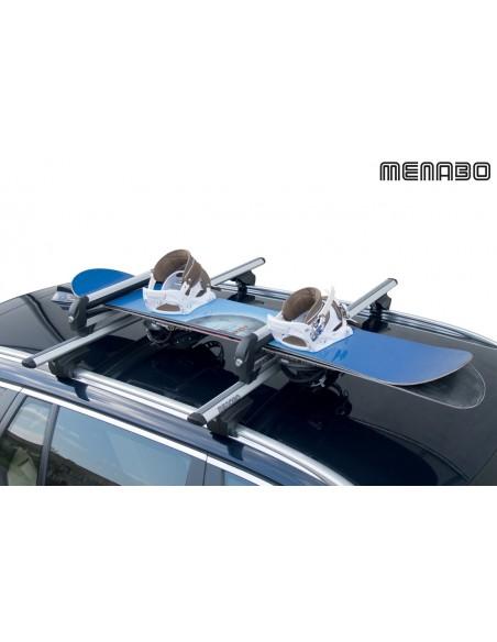 Porta sci per barre da tetto MENABO' WHITE BEAR 4 sci 2 snowboard