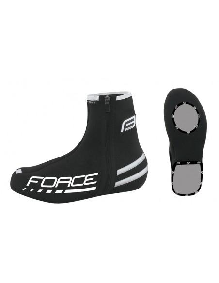 Copriscarpe ciclismo neoprene FORCE nero
