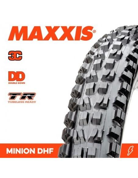 Copertone MTB MAXXIS MINION DHF 27,5x2,50 WT DD 2-Ply Butyl 3C MaxxGrip