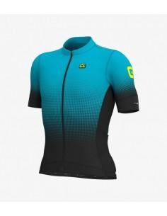 Maglia ciclismo ALE' GRAPHICS PRR STRADA nero-cyan 2019