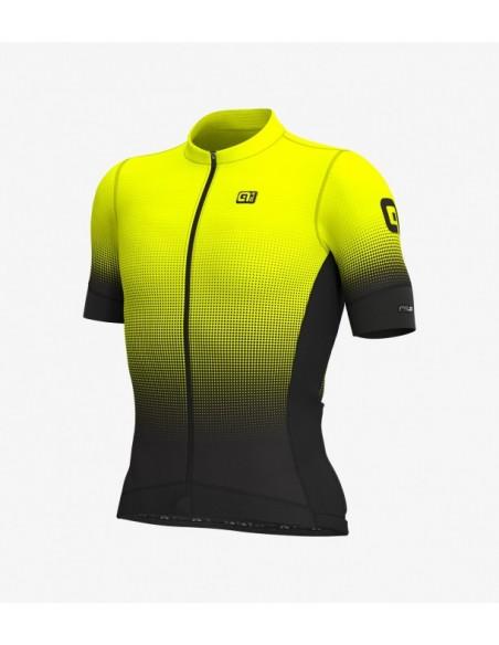 Maglia ciclismo ALE' GRAPHICS PR-S DOTS giallo fluo 2019