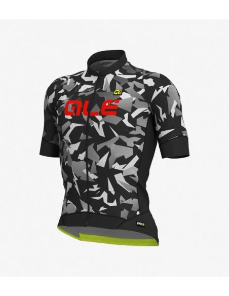 Maglia ciclismo ALE' GRAPHICS PRR GLASS nero grigio 2019
