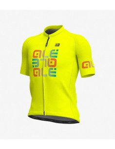 Maglia ciclismo ALE' SOLID MIRROR rosso 2019