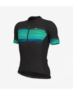 Maglia ciclismo ALE' SOLID START nero giallo 2019