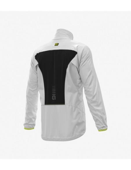 Guscio giubbino ciclismo antipioggia ALE' LIGHT PACK bianco 2019