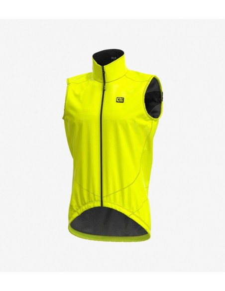 Gilet ciclismo antipioggia ALE' LIGHT PACK fluo 2019