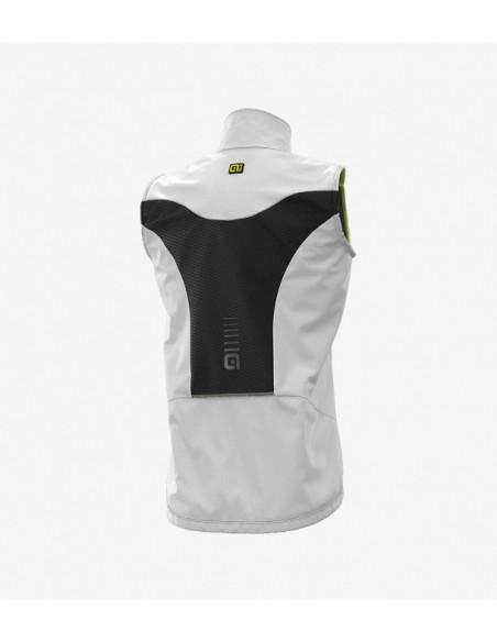 Gilet ciclismo antipioggia ALE' LIGHT PACK bianco 2019