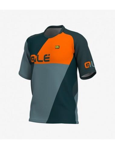 Maglia dh enduro allmountain ebike ALE' RAMAPAGE LS arancio2019