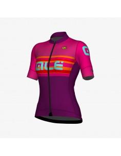 Maglia ciclismo donna ALE' R-EV1 RACE fuxia 2019