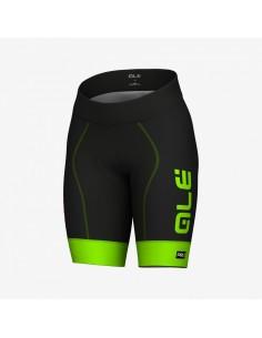 Pantaloncini ciclismo donna ALE' GRAPHICS PRR FOREVER nero-verde fluo 2019