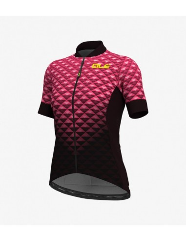 Maglia ciclismo ALE' SOLID BOLAS JERSEY viola orchidea-rosa fluo 2018