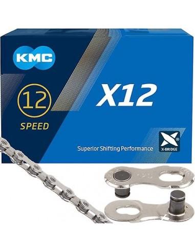 Catena KMC X-11-93 118 maglie nero-silver