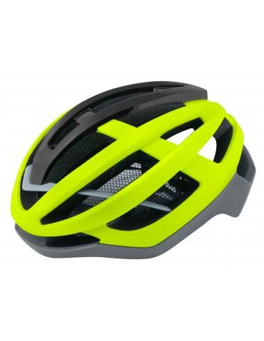Casco bici da strada road Force lynx giallo fluo