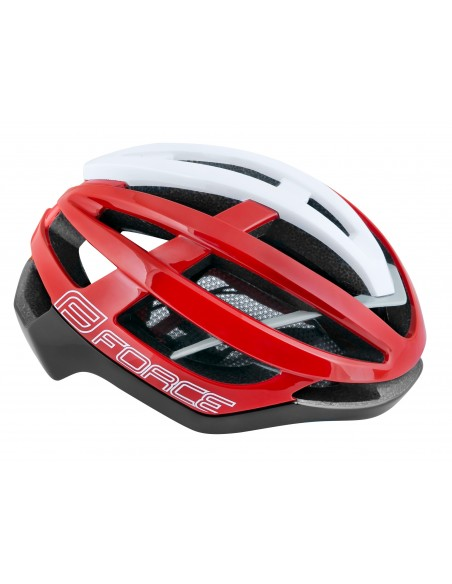 Casco bici da strada road Force lynx nero rosso bianco