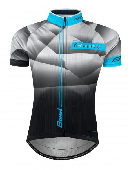 Maglia ciclismo FORCE BEST fluo nero