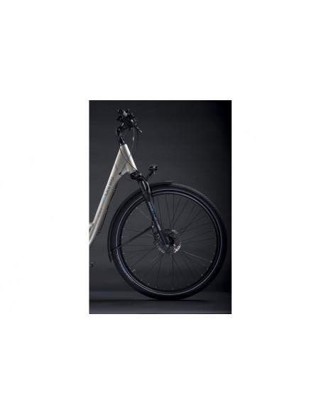 Bicicletta elettrica Brinke shimano ELYSEE cambio elettronico GRIGIO