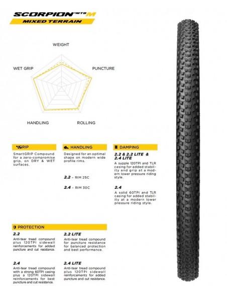 Copertone MTB PIRELLI 29X2,2 SCORPION MTB Mixed Terrain Lite