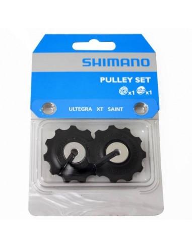 Coppia pulley pulegge rotelline cambio Shimano Ultegra 11 velocità
