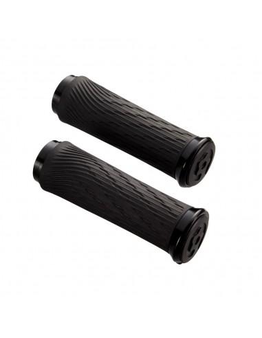 16003 - SRAM Coppia manopole 85mm SRAM LOCKING per comandi GripShift INTEGRATI anello Black