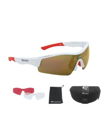 18063 - FORCE OCCHIALI F.RACE WHITE+RED LENCES