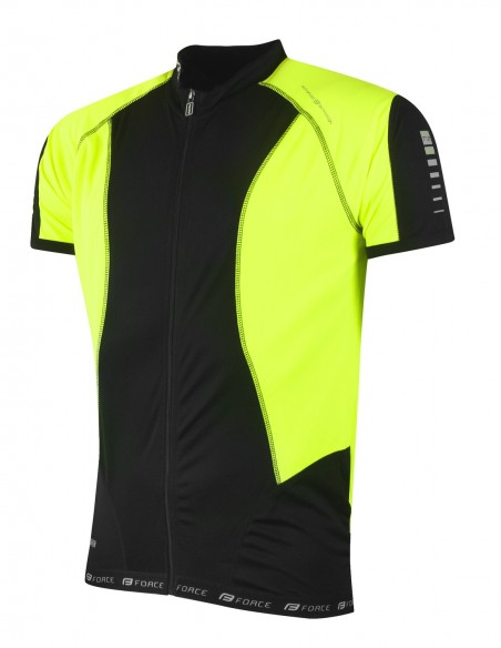 18123 - FORCE GIACCA T10 SH.SLEEVE BLACK/FLUO
