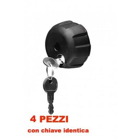 18213 - PERUZZO ART 365/ 4 4 POMELLI ANTIFURTO CON CHIAVE