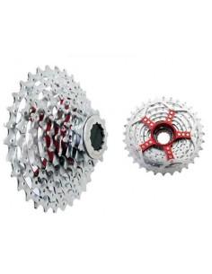 15967 - SRAM Cassetta Pignoni 990 9v  spider in alluminio colore Red Win